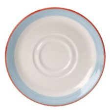 "Steelite Simplicity Rio Blue 5-3/4"" Double Well Saucer"