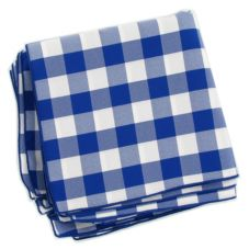 "Tablecloth Co. 20X20 CHECK Blue & White 20"" Checked Napkin - Dozen"