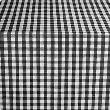 "Marko 51531554L014 Classic Series Black Checked 54"" x 15 YD Tablecloth"
