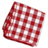 "Tablecloth Co. 20X20 CHECK Red & White 20"" Checked Napkin - Dozen"