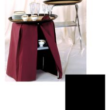 "Snap Drape TRAYSTANDCOVER Wyndham Black 17 x 20"" Tray Stand Cover"