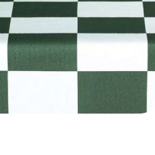 Marko 5741154L194 Fashion Series Green Checkered Flag 15 YD Tablecloth