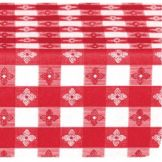 Marko® 51511554L001 Classic Series Red Check 15 YD Tablecloth