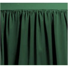 Marko® 5024EA29BA245 TruFinish Classic 17' Dark Green Table Skirt