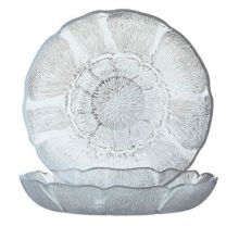 Arcoroc J0226 Fleur Glass 15 Oz. Soup / Deep Salad Plate - 36 / CS