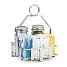 TableCraft 606R Chrome Plated Condiment Rack