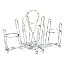 Tablecraft Chrome Plated Wire Combination Condiment Rack