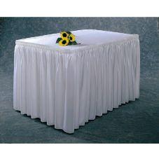 Snap Drape #100-I BLK Wyndham Shirred Pleat 17.5 Ft. Table Skirt