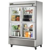 True T-49G-4 Four-Door 2-Section 49 Cu Ft Reach-In Refrigerator