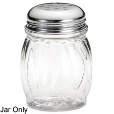 Tablecraft 6 Oz Clear Swirl Plastic Shaker Jar without  Lid