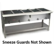 S/S Electric Hot Food Buffet w/ Dual Glass Sneeze Guards, 208V