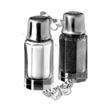 Danube Polished Crystal 1 oz Salt & Pepper Shaker w/ Chrome Top