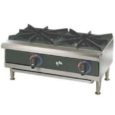 "Star® 602HWF Star-Max® Gas 2-Burner 24"" Hot Plate"