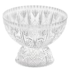 "Tablecraft Crystalware 12 Qt 11"" H Crystal Design Punch Bowl"