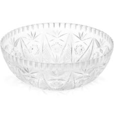 "Tablecraft Crystalware Clear Plastic 11"" Salad Bowl"