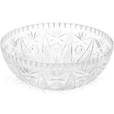 "Tablecraft 900C Crystalware 11"" Clear Plastic Salad Bowl"