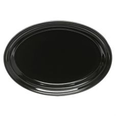 "Homer Laughlin China 456101 Fiesta Black 9-5/8"" Oval Platter - Dozen"