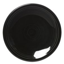 "Homer Laughlin China 463101 Fiesta® Black 6-1/8"" Plate - 12 / CS"