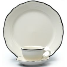Homer Laughlin 533847 Carolyn Styleline Black 12.25 oz Bowl - 36 / CS