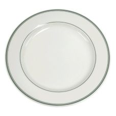 "Homer Laughlin China 2101 Green Band RE 12"" Plate - Dozen"