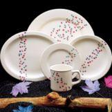 "Homer Laughlin 3691505 Seville® Confetti 9"" Plate - Dozen"