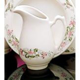 Homer Laughlin 3571138 Seville Pink Violets 5.5 oz Creamer - 24 / CS