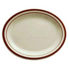 "Buffalo R4238026345 Dunes Ivory RE 9-3/4"" Oval Platter - 24 / CS"