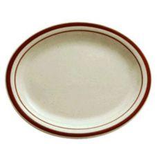 """Buffalo R4238026359 Dunes NR 11-1/2;"""" Oval Platter - 24 / CS"""