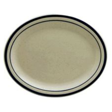 "Buffalo R4238028359 Blue Ridge Ivory NR 11-1/4"" Platter - 24 / CS"