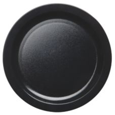"Cambro 9CWNR110 Black Camwear® Narrow Rim 9"" Plate - 48 / CS"