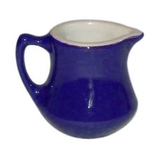 Hall China 196-BL Cobalt Blue Handled 5.5 Oz Empire Creamer - 24 / CS