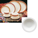 Homer Laughlin 1701580 Bavarian Brush 9 oz Grapefruit Dish - 36 / CS
