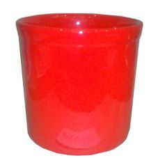 Gaetano Red Ceramic 0.5 Gal. Crock w/o Lid
