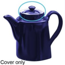 Hall China 51 1/2-C-BL Cover f/ Cobalt Blue 12 Oz Coffee Pot - 12 / CS