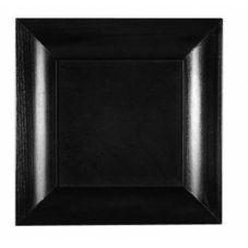 """Bauscher® 198910BLACK Modulus 11.22"""" x 11.22"""" Black Melamine Tray"""