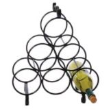 Metal Wire Wine Rack, Holds 6 Bottles