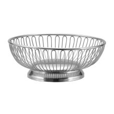 "Oneida® J0016731A Noblesse Round S/S 8"" Bread Basket"