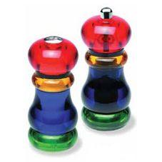 Olde Thompson 3591-20-0-0 Acrylic Sunset Salt Shaker / Pepper Mill Set
