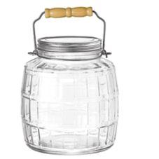 Anchor Hocking 85728 1 Gallon Brushed Aluminum Lid Barrel Jar