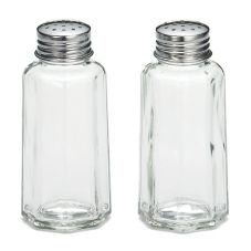 TableCraft 157S&P 2 Oz. Glass Salt & Pepper Shakers - Dozen