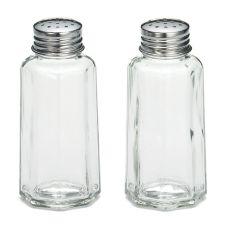 TableCraft 157S&P 2 Oz. Glass Salt & Pepper Shakers - Dozen