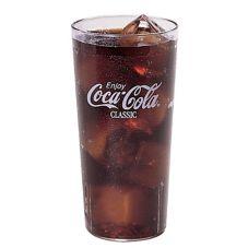 Cambro 20CC152 Clear 22 Oz. Coca-Cola Tumbler, White Letters - 72 / CS