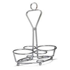 TableCraft 260R 4-Ring Chrome Plated Combo Condiment Rack