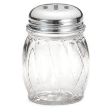 Tablecraft Swirl Plastic 6 Oz Shaker w/ Slotted Chrome Plated Top