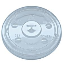Fabri-Kal 9508055 Clear X-Slot Lid For Tumblers - 1000 / CS