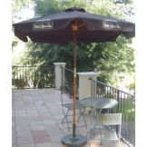 "Keith Design Group CUSTOM-WPB Peet's Coffee Umbrella 76"" Wood Frame"