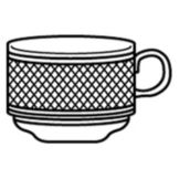 Dudson 3WLC002B White Lace 8 Oz. Stacking Teacup - 36 / CS