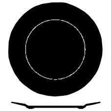 "Dudson 2TUW260T Neo 10"" Wide Rim Plate - 24 / CS"