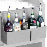 """Cambro® BAR54SR180 CamBar Grey 19"""" x 4-5/16"""" 5 Bottle Speed Rail"""