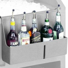 "Cambro® BAR54SR180 CamBar Grey 19"" x 4-5/16"" 5 Bottle Speed Rail"
